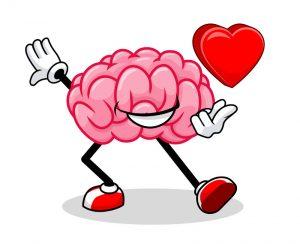 Cérebro humano apaixonado