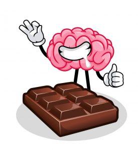 Chocolate faz bem para o cérebro.