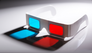 Óculos 3D representando a aprendizagem 3D